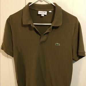 Lacoste slim polo khaki green size M (4)